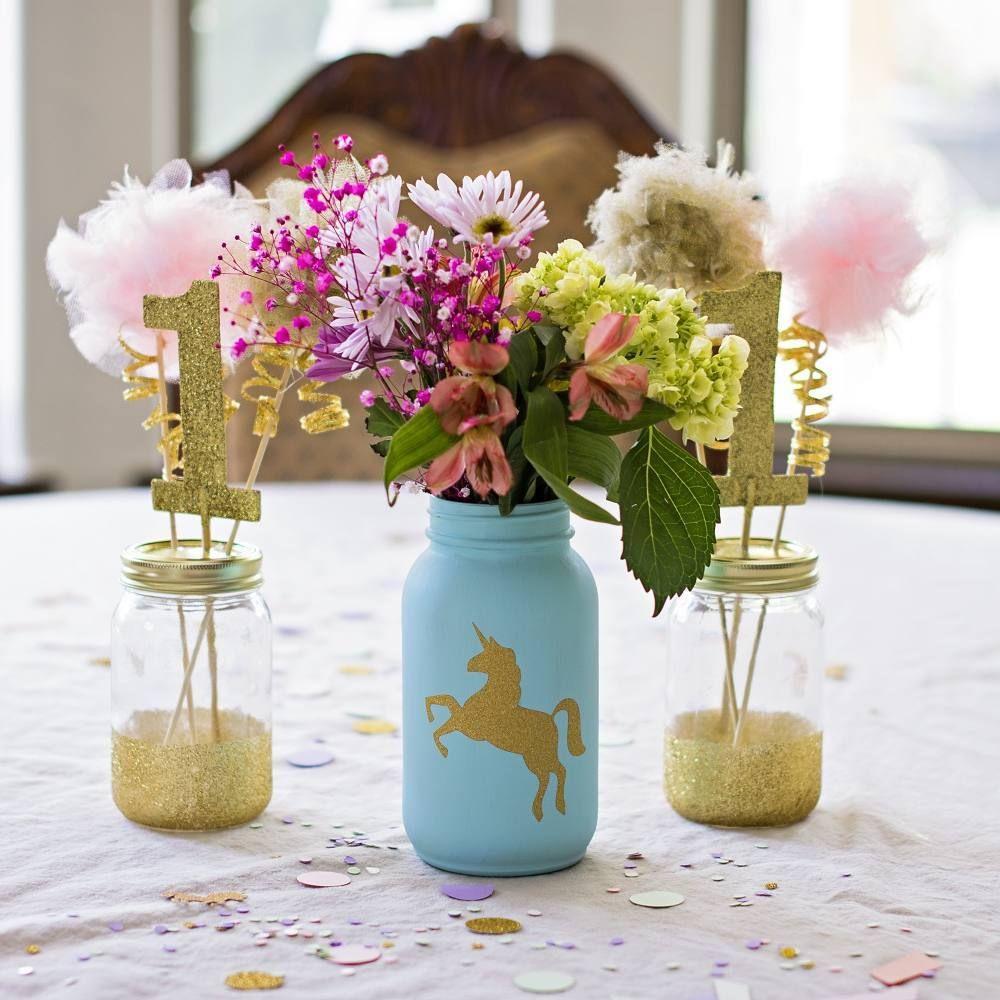 Diy unicorn party decorations pinterest