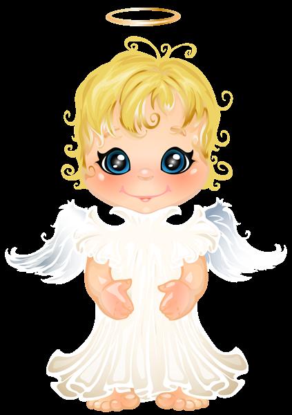 Cute Little Angel Transparent PNG Clip Art Image Cartoon