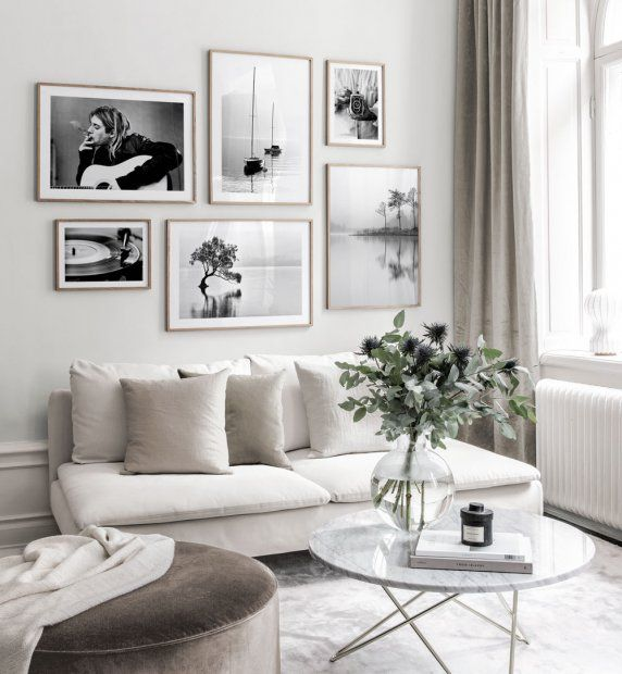 Photo of Bildergalerie im skandinavischem Design mit schwarzweißen Postern – Ispirazione …