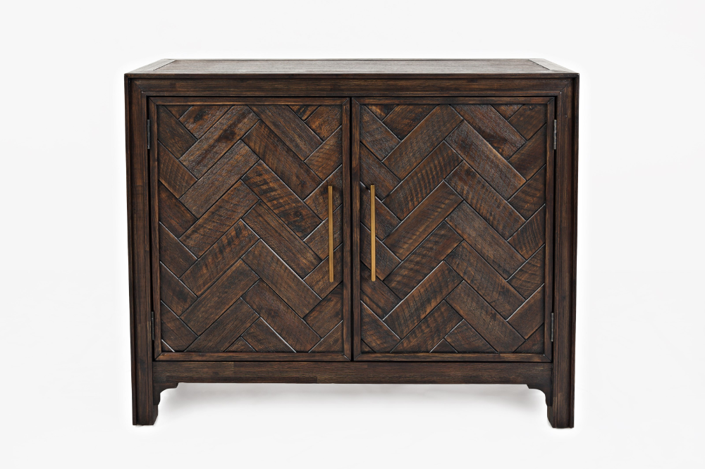 Jette 2 Door Accent Cabinet By Jofran At Crowley Furniture Mattress In 2021 Accent Doors Accent Cabinet Wooden Chevrons