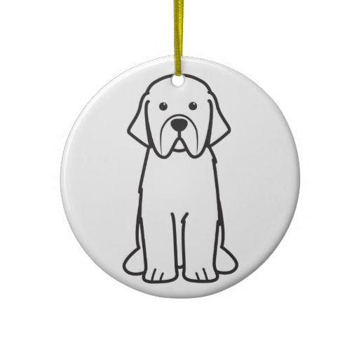 Snoopy Christmas Tree Topper: Newfoundland Dog Cartoon Ceramic Ornament