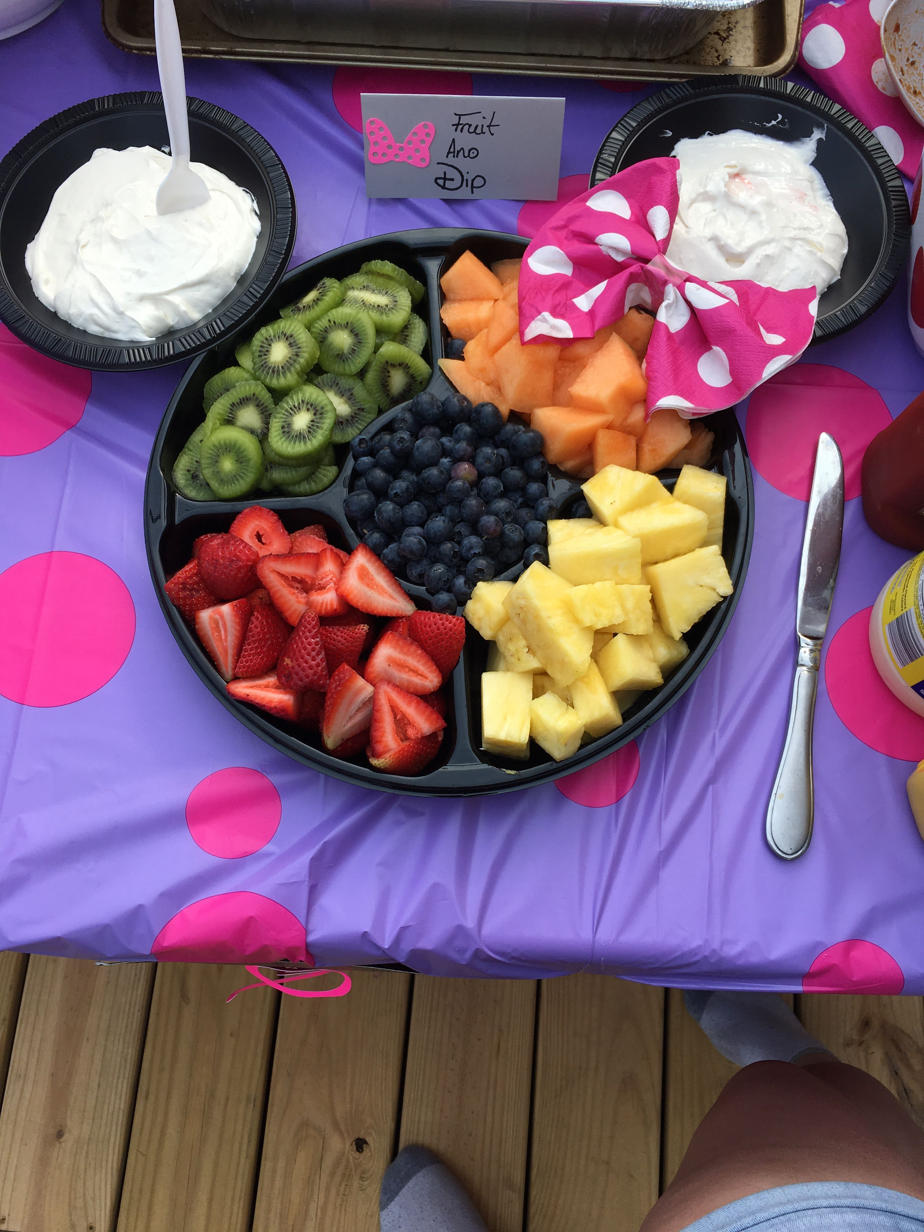 Minnie Mouse fruit tray #mickeymousebirthdaypartyideas1st Minnie Mouse fruit tray #mickeymousebirthdaypartyideas1st