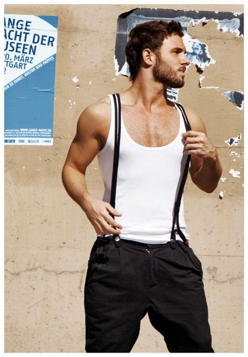 Suspenders + beard