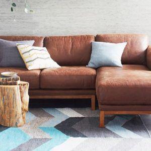 Sleek Leather Sectional Sofa httphotelivatocom Pinterest