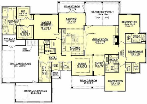 French Country House Plan 041