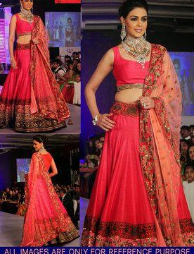Genelia D'souza pink designer lehenga!! Call/whatsapp ...