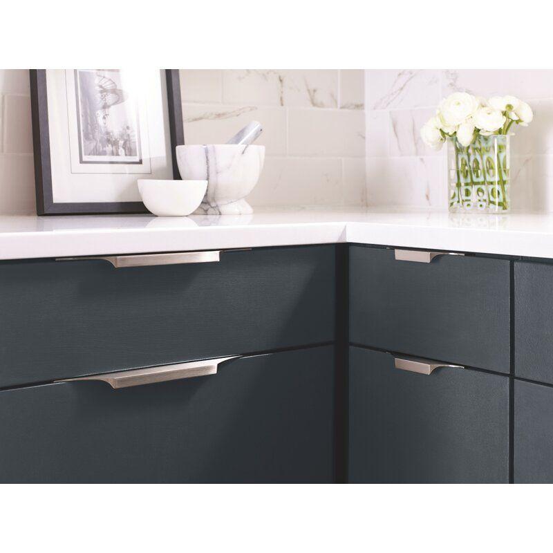 Extent 8 9 16 Center To Center Finger Pull In 2021 Modern Kitchen Pulls Modern Kitchen Hardware Kitchen Drawer Pulls