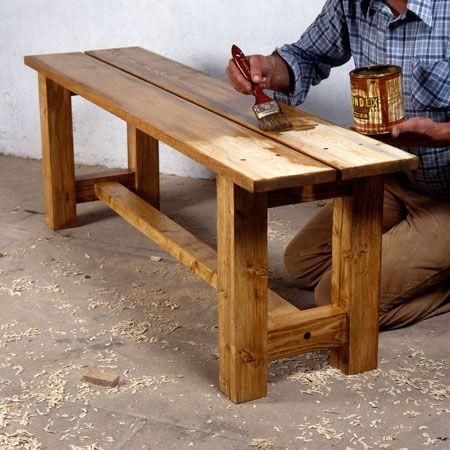 Comment fabriquer un banc en bois massif ? | meuble etc | Banc bois ...