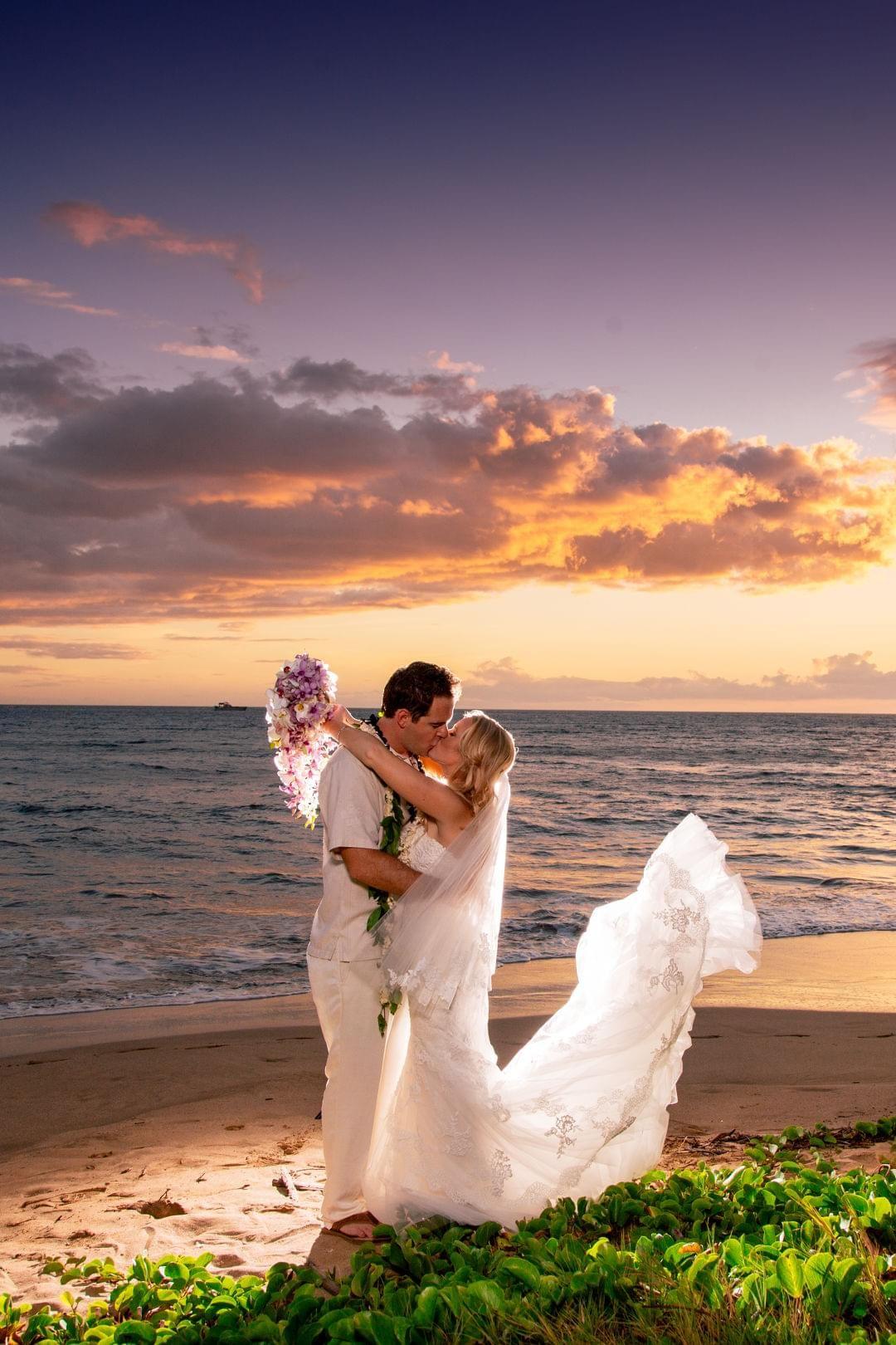 Classic Hawaiian Nuptials at Sugar Beach Events - Kihei, HI