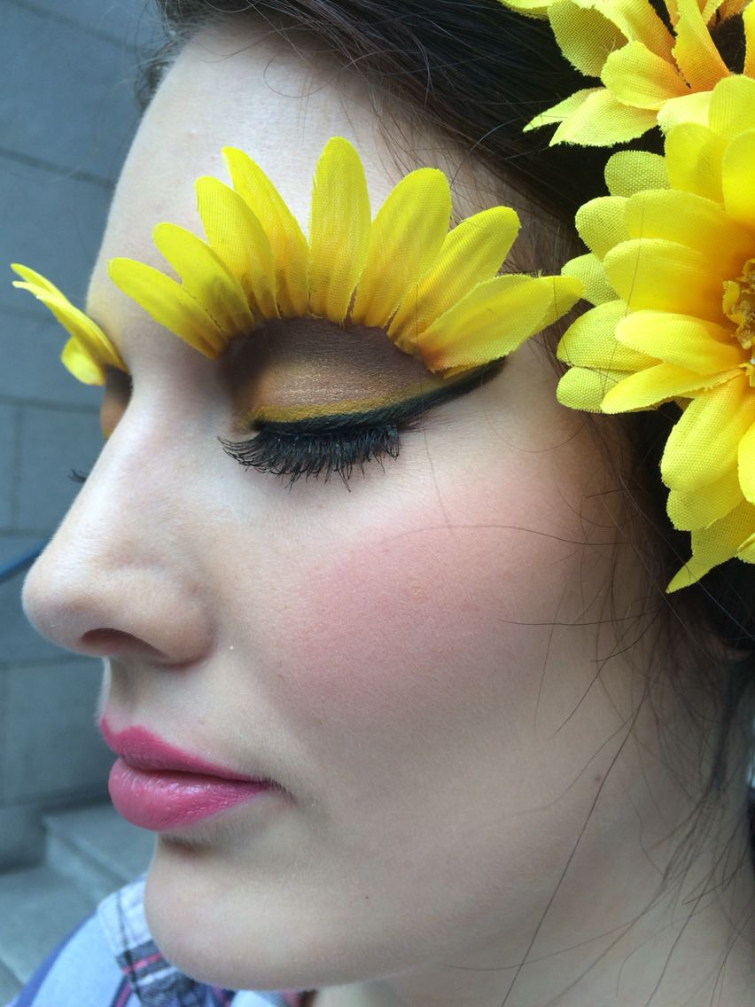 Sunflower avant garde makeup