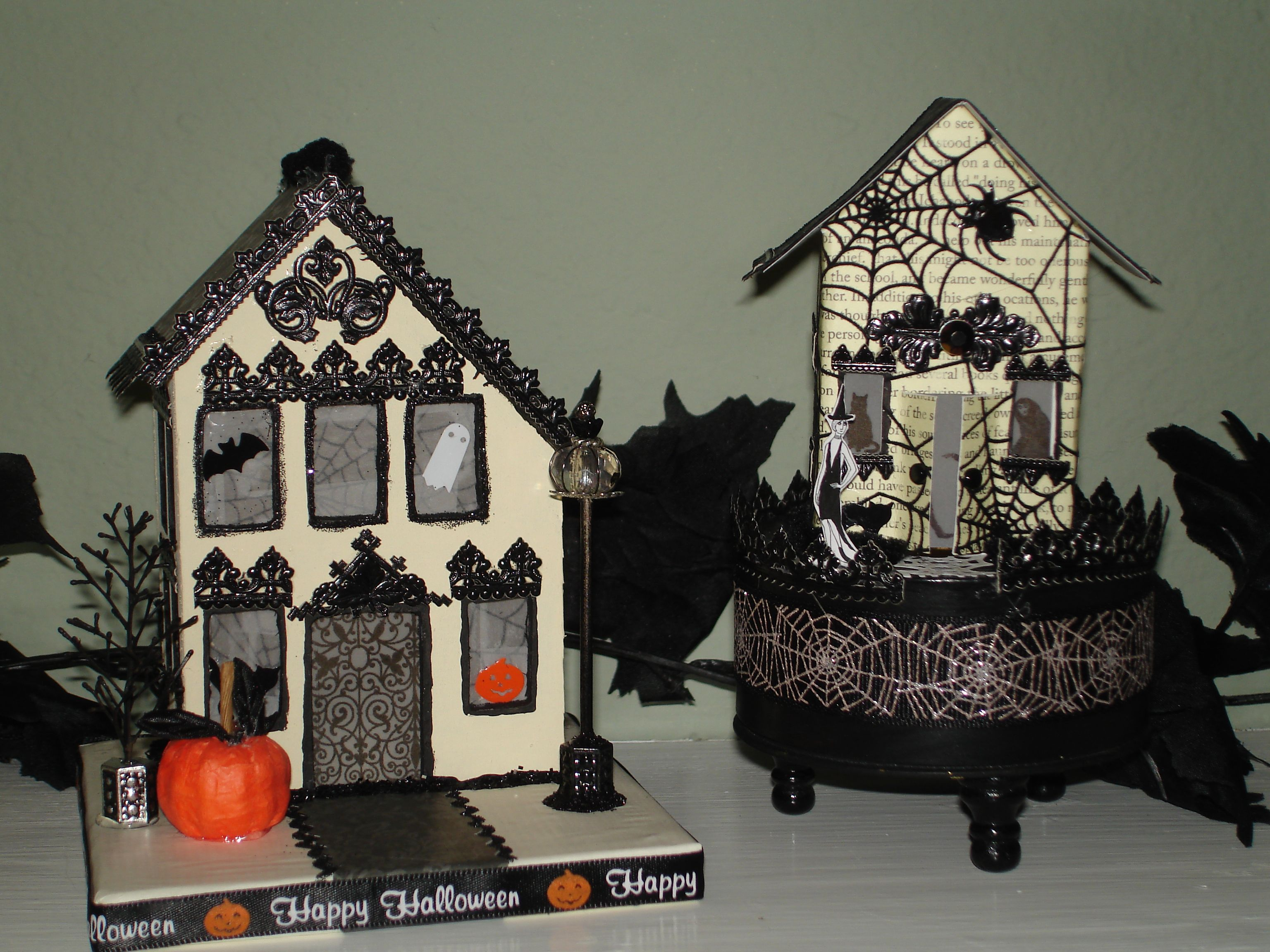 images about Halloween Putz and Paper Houses Ideas on