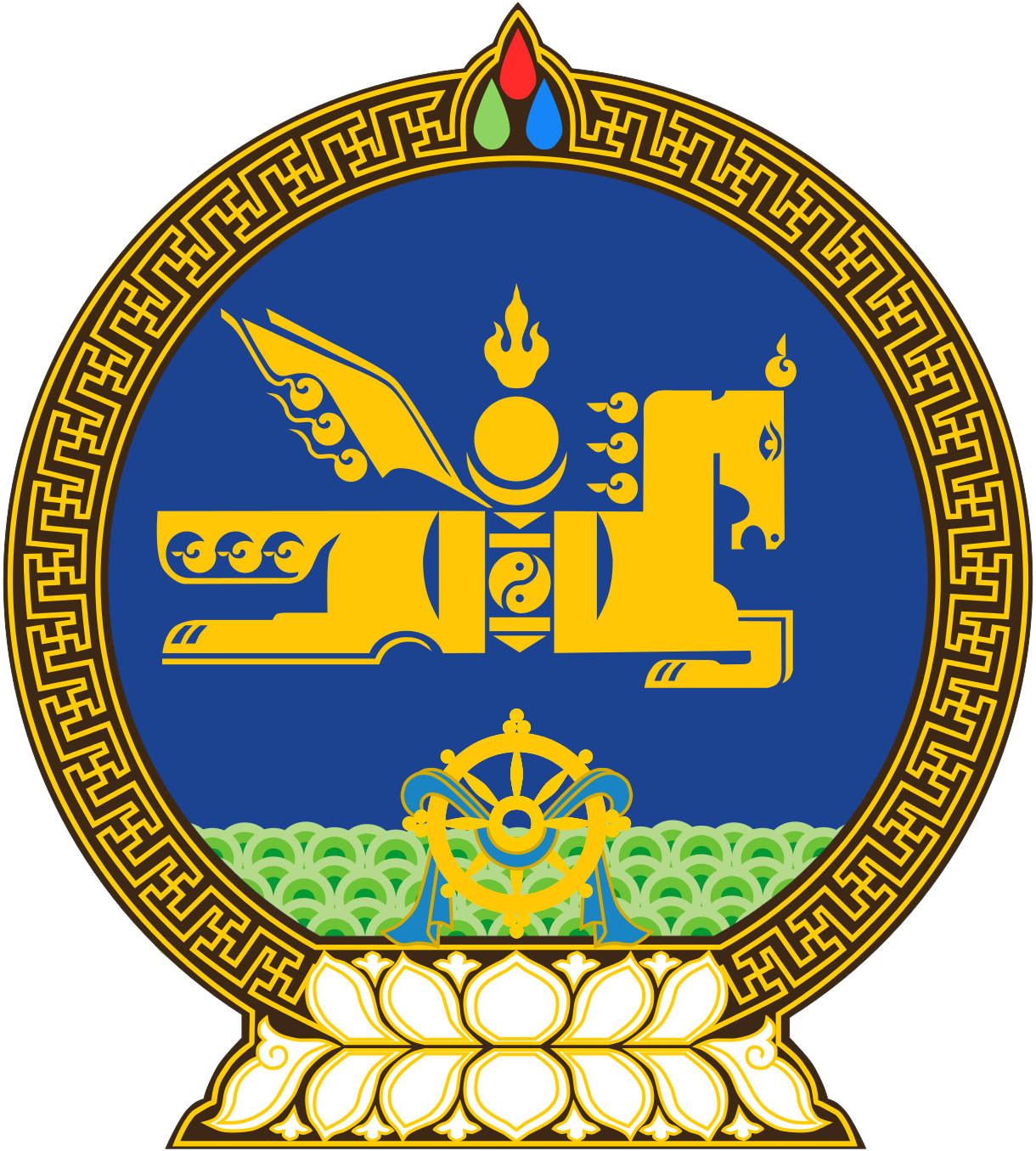 Mongolia Coat Of Arms Mongolia Pinterest Mongolia