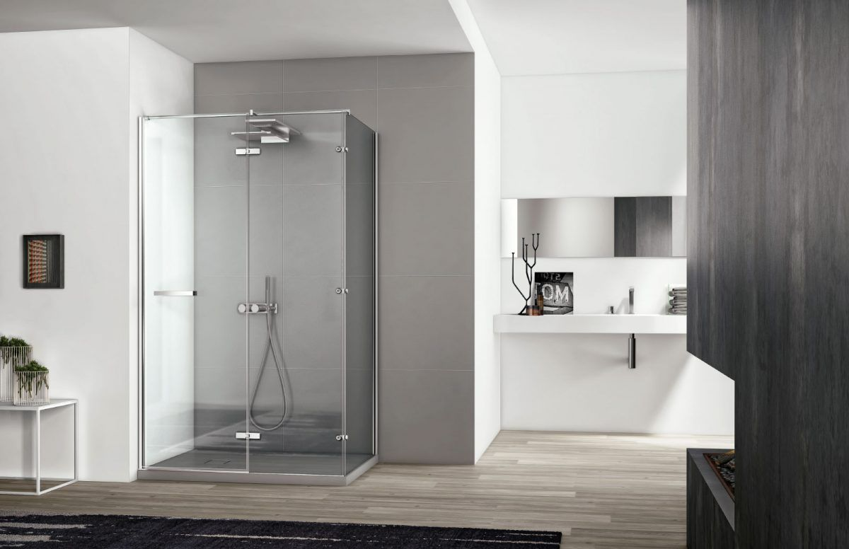 Modern shower cubicles with contemporary design and Smart