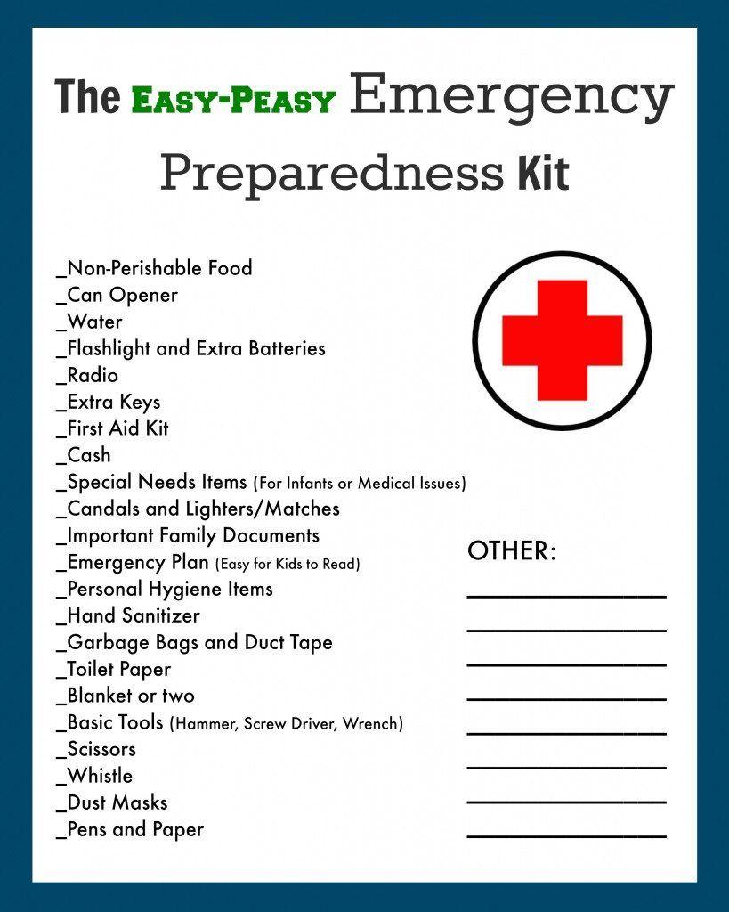 EmergencyDisasterEvacuationKitChecklist Emergency