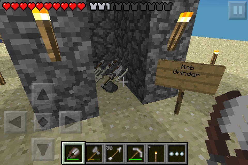 mob farm in minecraft pe