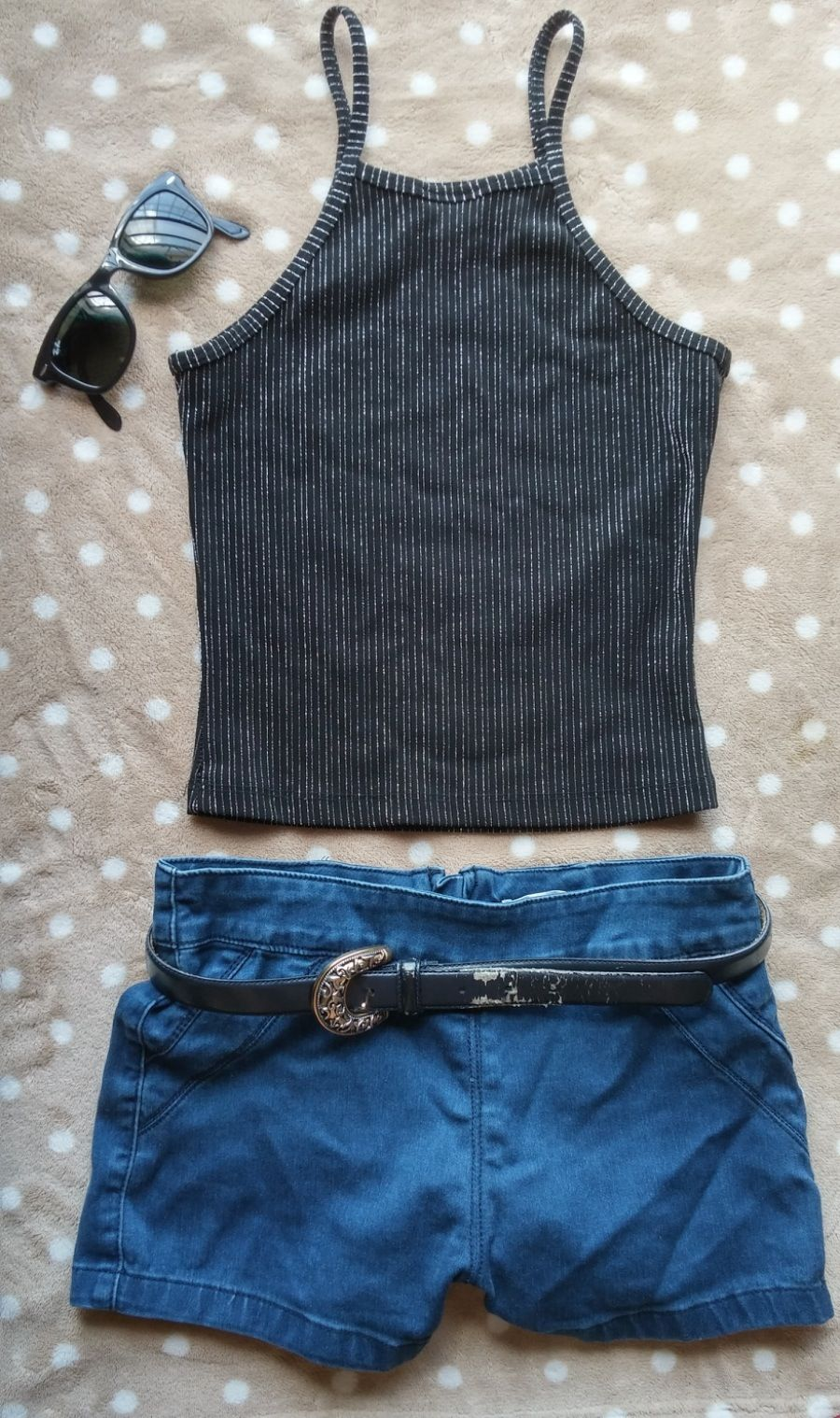 Vintage 1990s crop top blouse tank top *SMALL