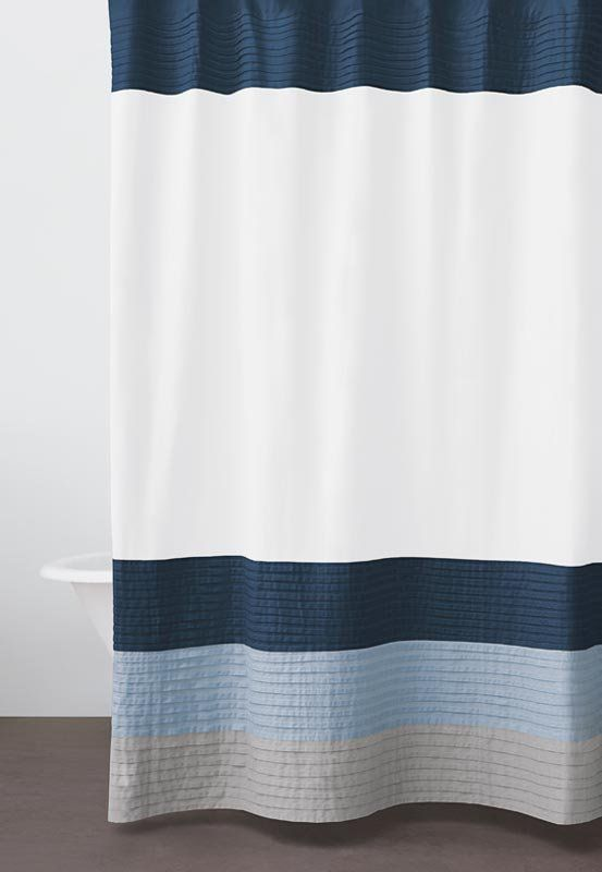 Google Image Result For Http Sc Donnakaranhome Com Common Images Products Large Dkny Color Block Shower Curtain N Navy Shower Curtain Curtains Shower Curtain