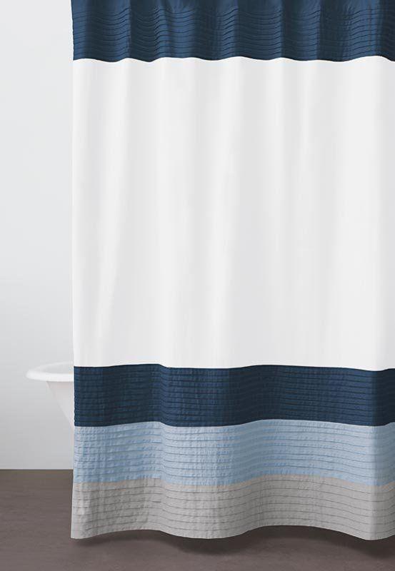 navy shower curtains | Home / Bath / Shower Curtains / DKNY Color ...