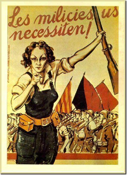 Un anuncio para las mujeres a participar en la guerra.