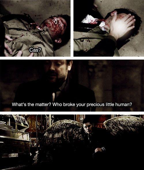 Protective Castiel Hurt Sam - 0425