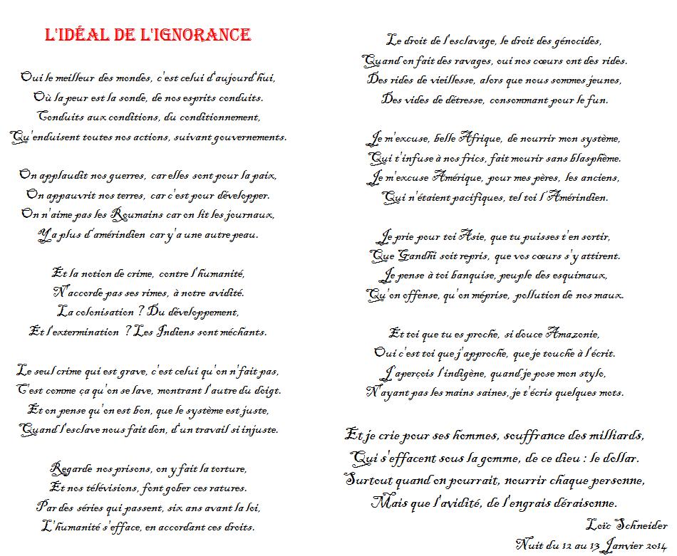 89 L Ideal De L Ignorance Poesie Poeme Revolution Ignore