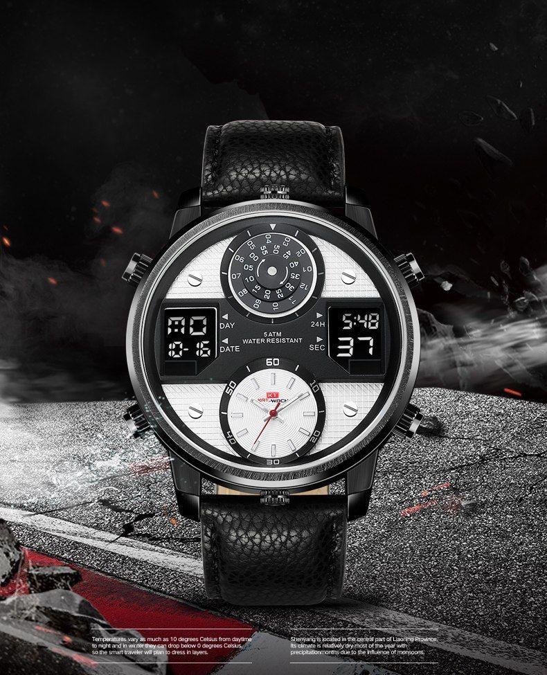 f649fd459 KAT-WACH Watch Man Luxury Brand Man 5ATM Waterproof Clock Men's Analog  Quartz Date Watches Men Sport Full Steel Wrist Watch