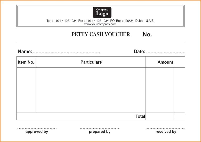 Petty Cash Vouchers Printing in Dubai, Abu Dhabi DESKTOP Resume