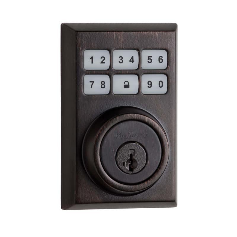 Kwikset 909cnt Smartcode Contemporary Electronic Deadbolt Venetian Bronze Deadbolt Keyless Entry Electronic Electronic Deadbolt Smart Door Locks Bronze