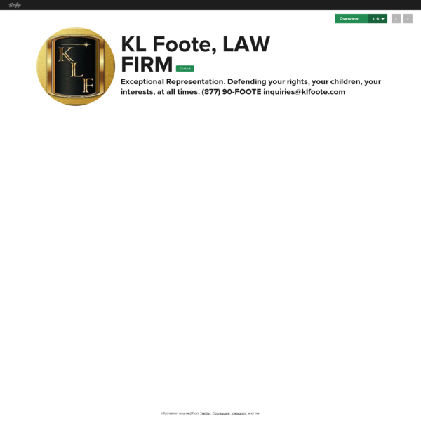 Graphical bio: KL Foote, LAW FIRM