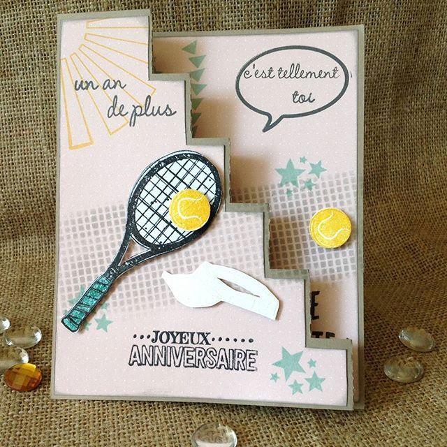 Carte Anniversaire Tennis.Carte Anniversaire Happybirthday Design Graphicdesign