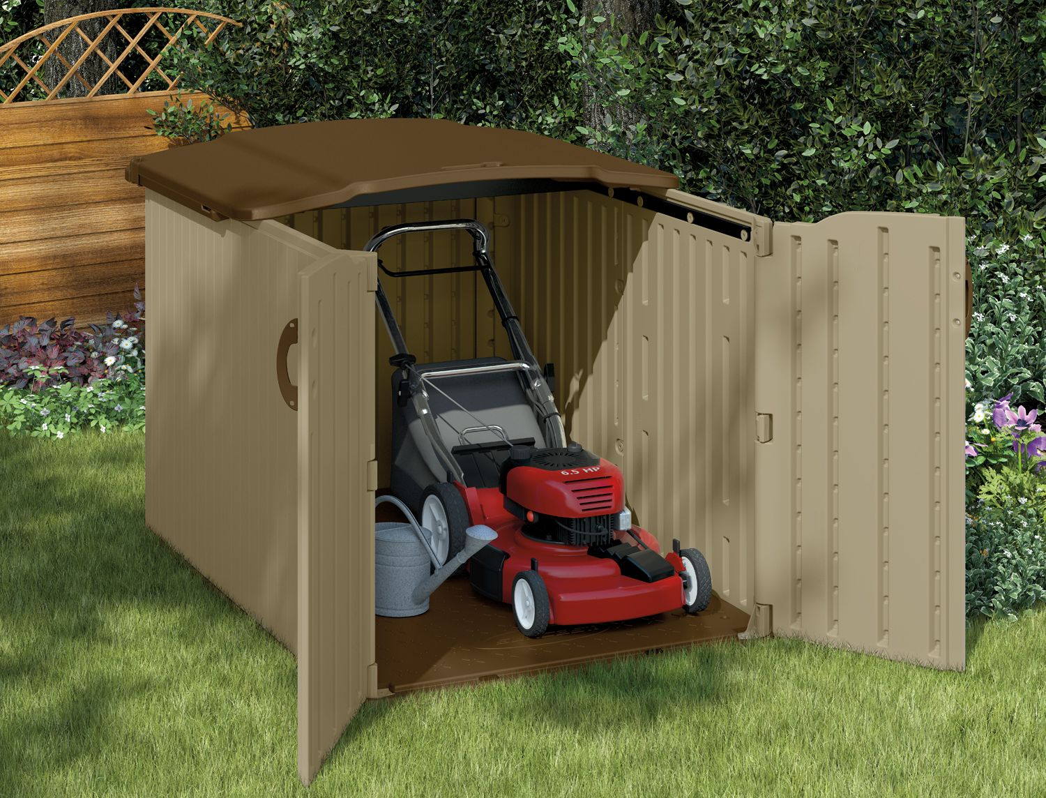 Looking For A Shed That Fits Below Your 6 Foot Fenceline? (check Out The  Video To See How It Works!)