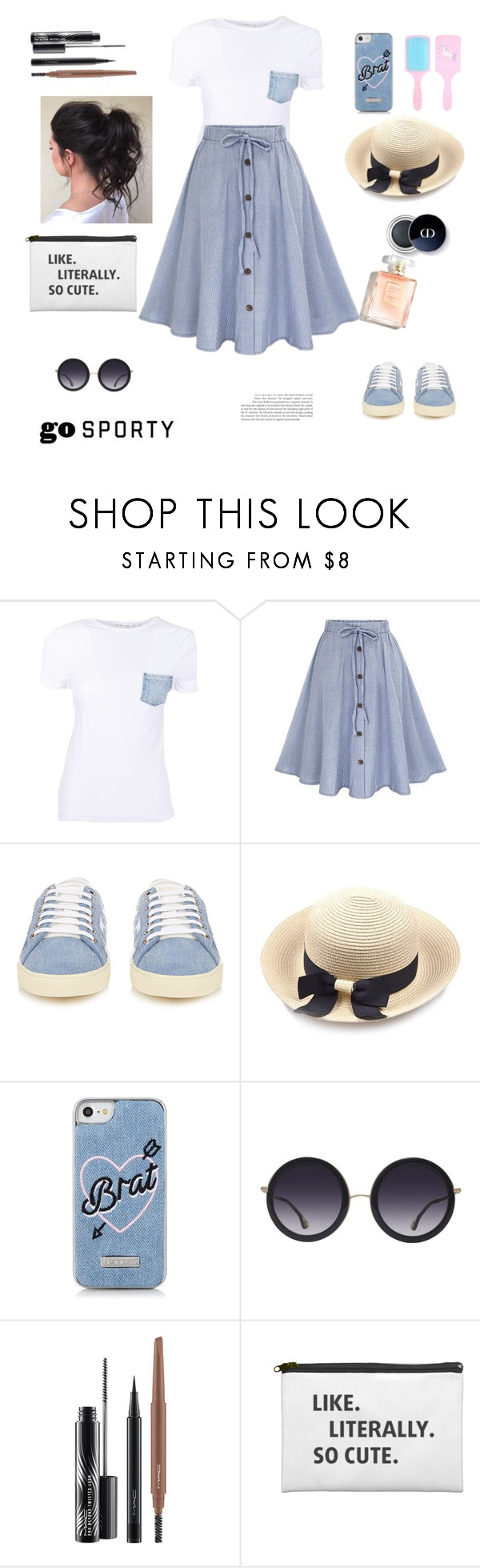 """""""Button"""" by ruptus ❤ liked on Polyvore featuring Helmut Lang, Yves Saint Laurent, Skinnydip, Alice + Olivia and MAC Cosmetics"""