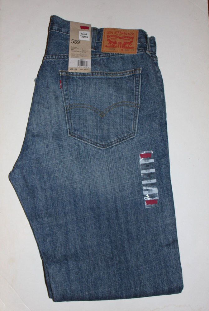 90bca285ca4 New Levis 559 Relaxed Straight Fit 38x32 Mens Jeans 38 x 32 NWT MSRP $ 58 # Levis #RelaxedStraightFit