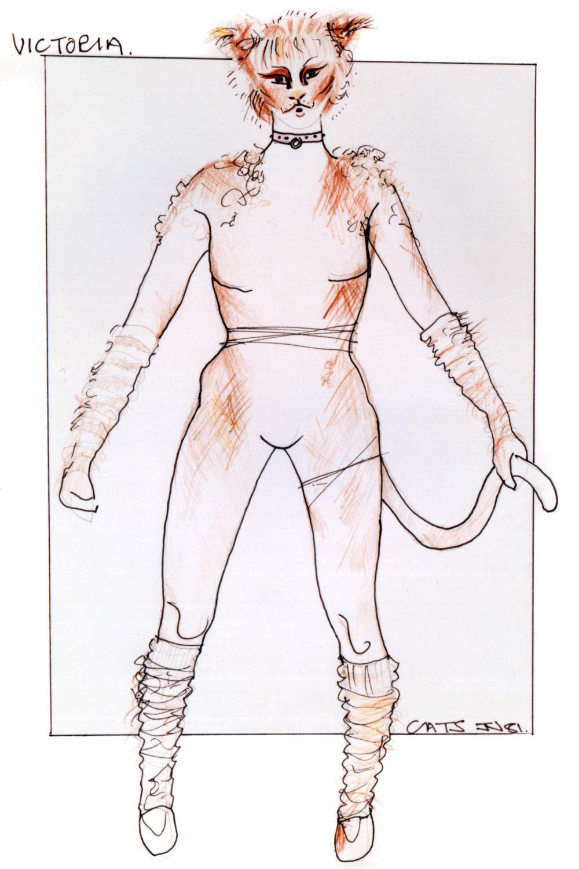 Victoria original costume design, John Napier 1981 Cat