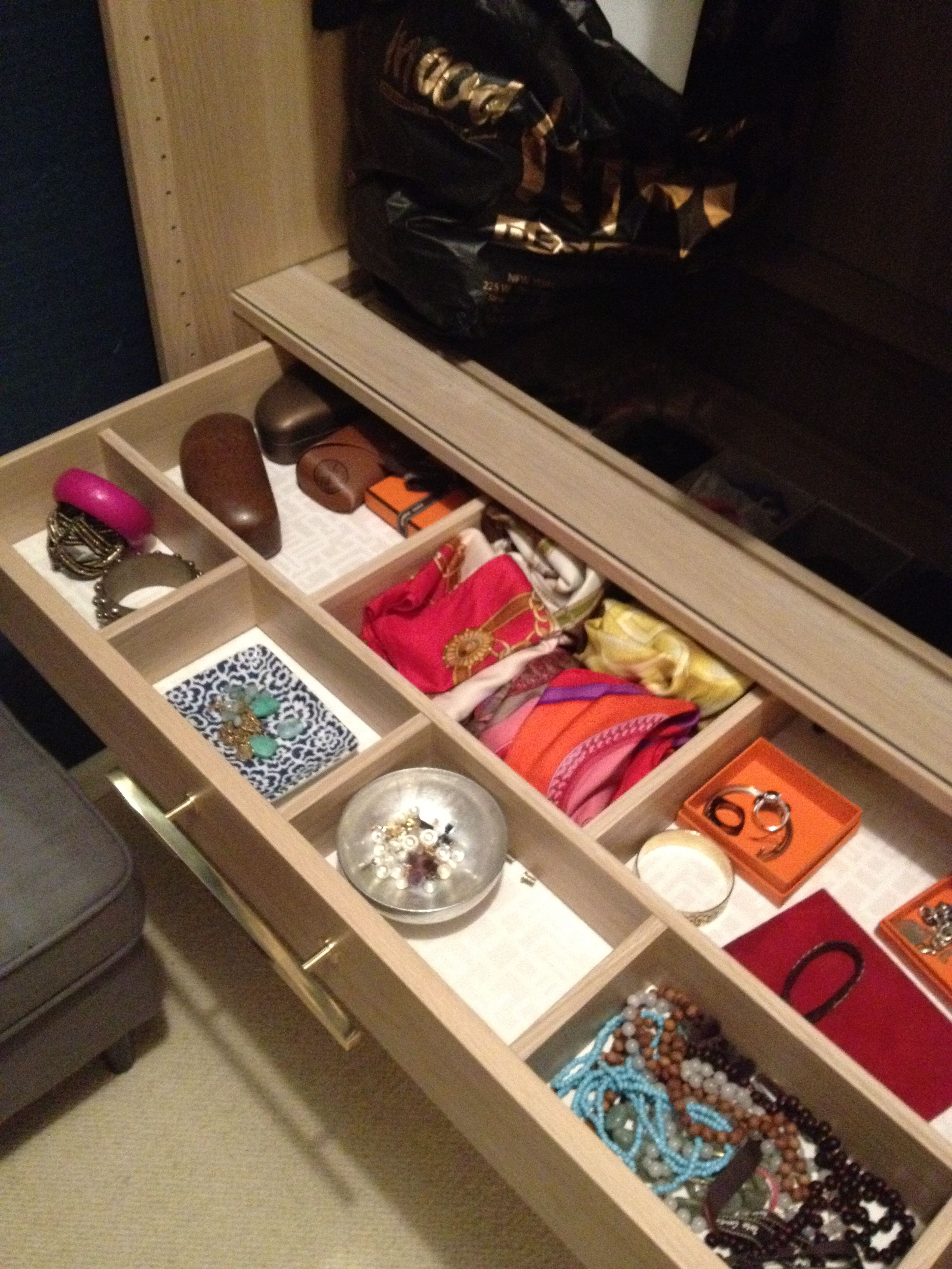 Ikea Pax Closet Drawer With Wallpaper Inside Like The
