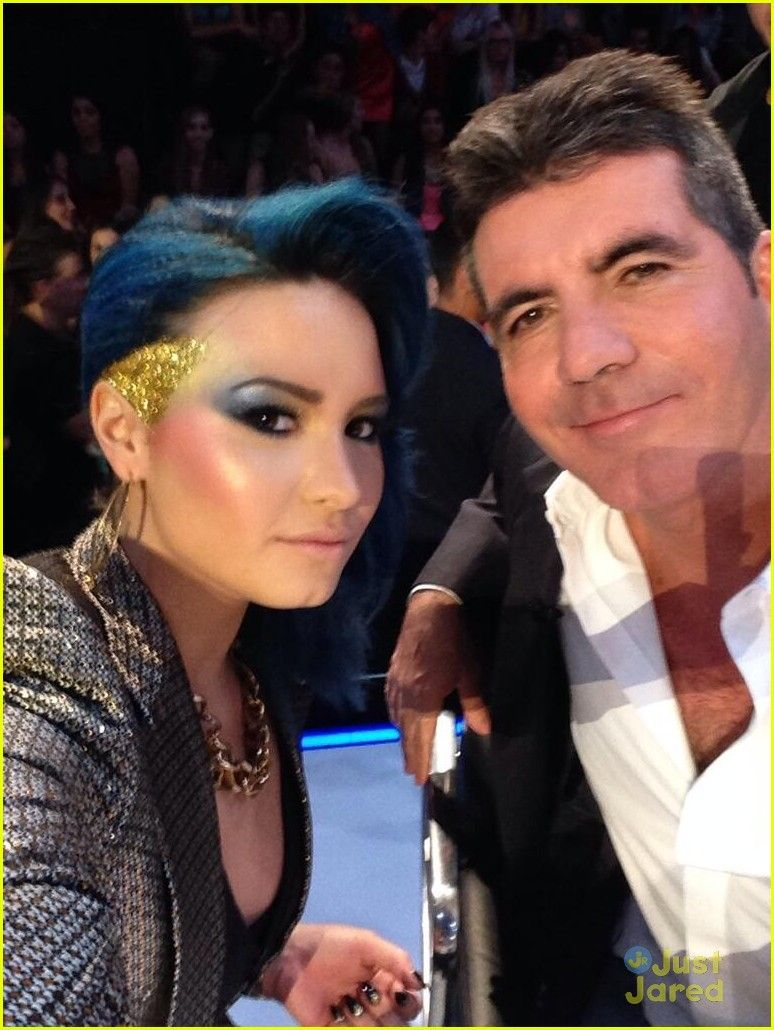Demi Lovato Simon Cowell Did She Shave Off Some Of Her Hair Off