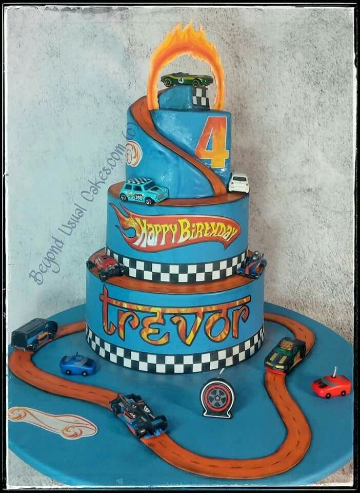 Beyond Usual Cakes:  Hot Wheel'n Birthday cake.  Awesome!