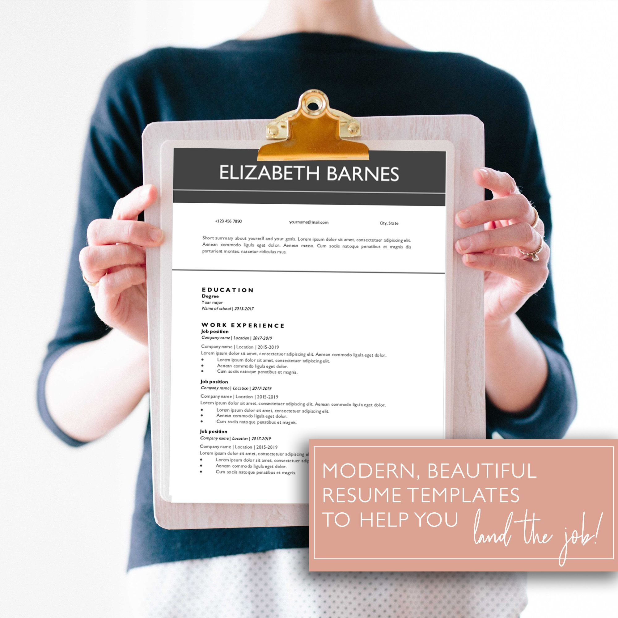 Google Docs Resume Template. Easily download and edit this