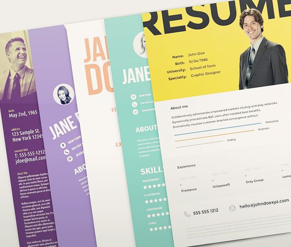 Free Resume Template Pack  Misc    Resume Free Resume