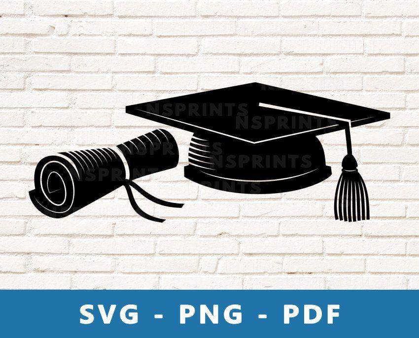 Graduation Svg Diploma And Cap Png Graduation Png Diploma Etsy Svg Svg Files For Cricut Funny Quote Prints