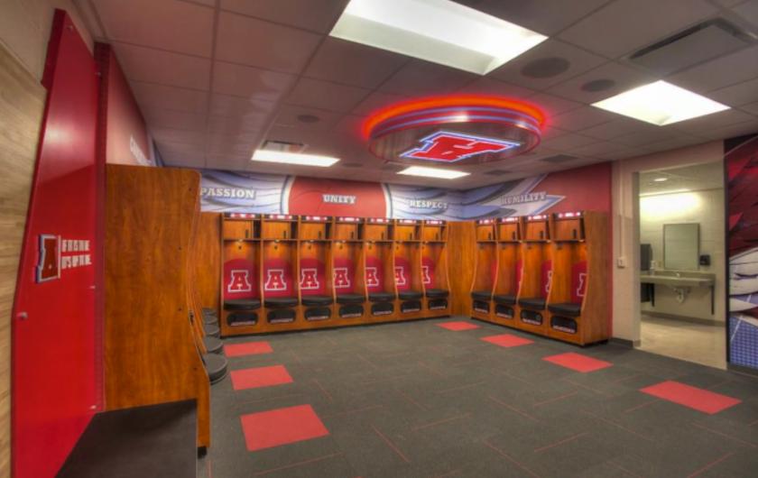 A 662 000 Basketball Locker Room Is Raising A Lot Of Questions Locker Room High School Sports Lockers