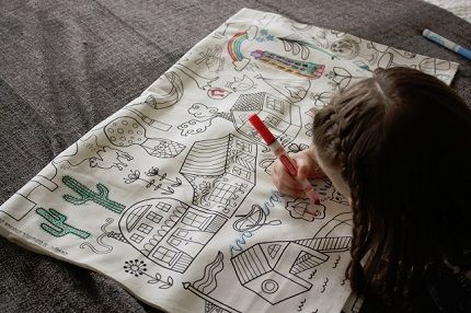 Idea file: Fabric can be a reusable coloring page | Filing, Outline ...