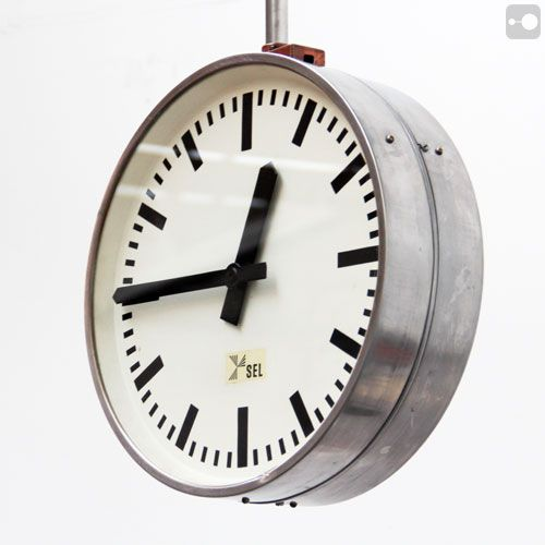 Double Sided Vintage Industrial Clock Vintage Factory Clock Sel Industrial Clocks Vintage Clock Clock