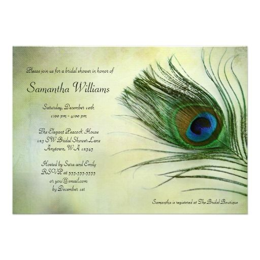 peacock bridal shower invitations invite your guests in style with this rustic vintage peacock feather bridal shower invitation easily customize with your