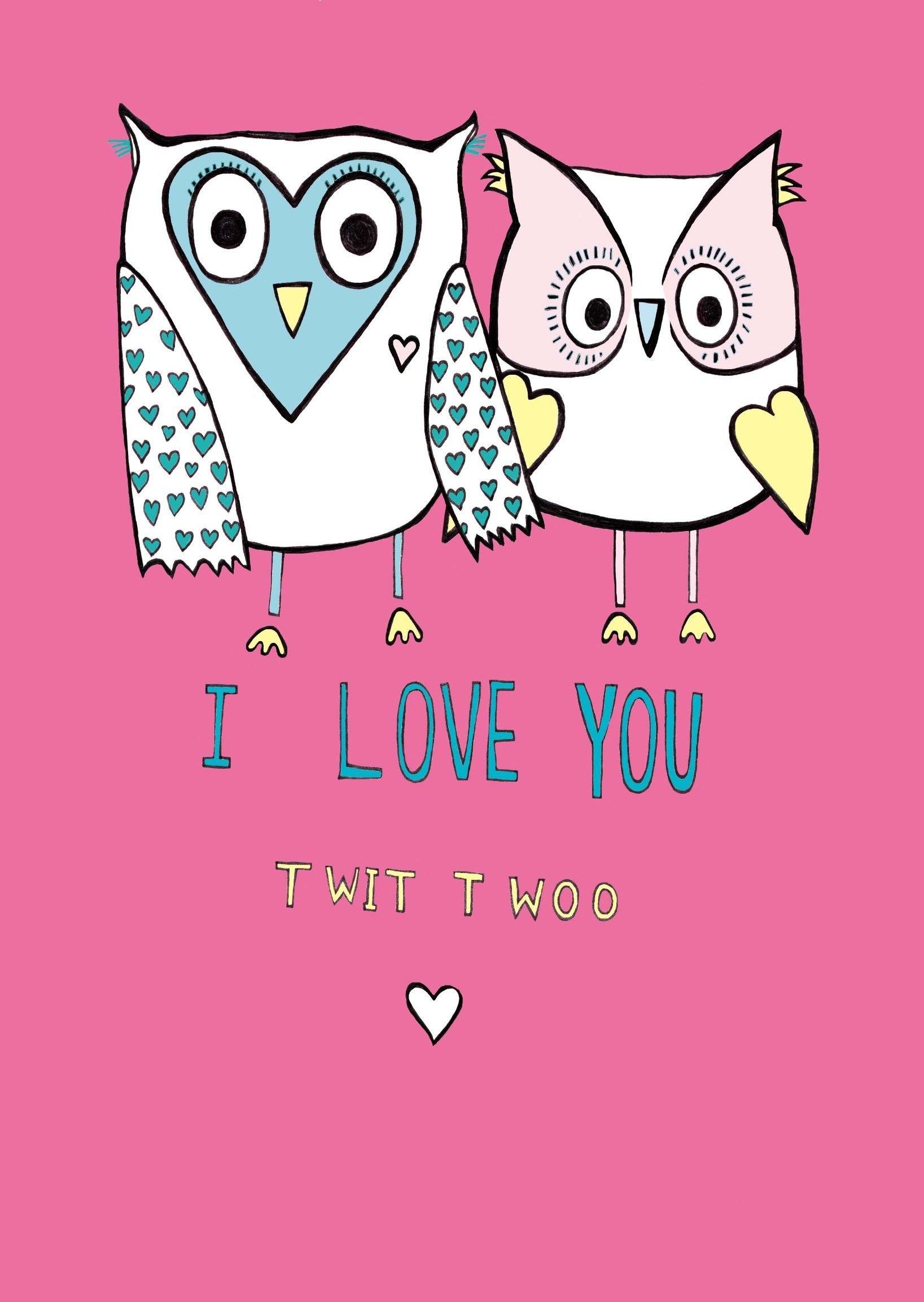 Картинки люблю тебя совы