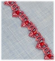 FREE pattern.  Hearts Bracelet - Item Number 17061