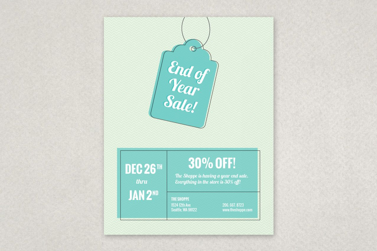 Year End Sale Flyer Template  Seasonal  Holiday Designs