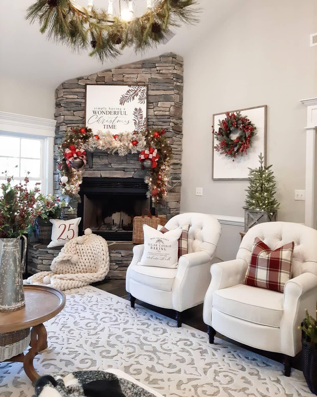 7 079 Likes 330 Comments Farmhouse Decor Influencer Bridgewaydesigns On In Winter Living Room Decor Farmhouse Christmas Decor Winter Living Room