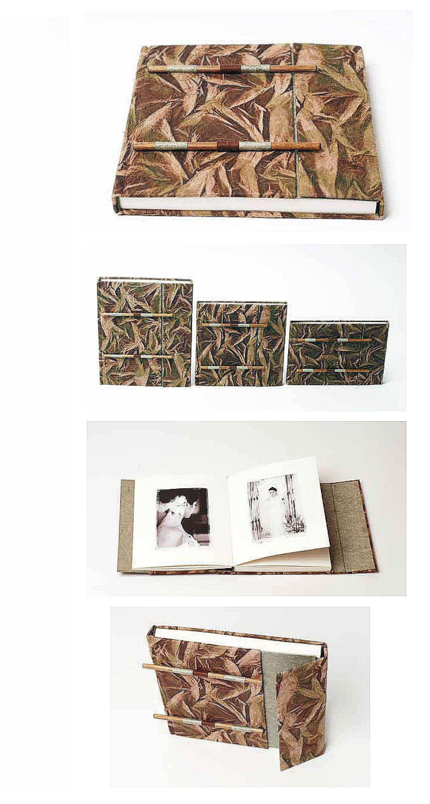 Albumes digitales cosidos a mano. Impreso en offset.