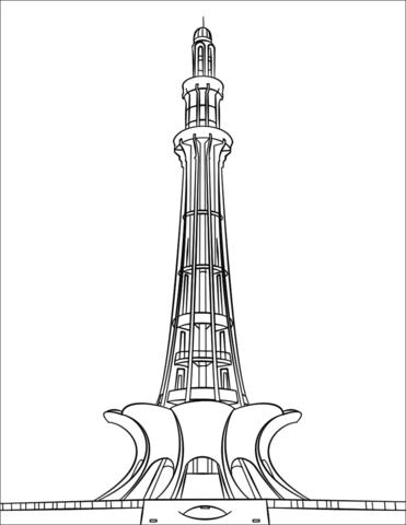 Minar E Pakistan Coloring Page Coloring Pages Free Printable Coloring Pages Truck Art Pakistan